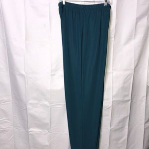 NWT Susan Graver Style Pull on Pants Size 1X Teal